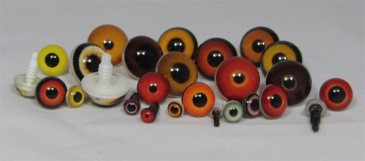 Taxidermy bird eyes